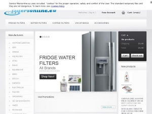 Modern water filters used in fridges